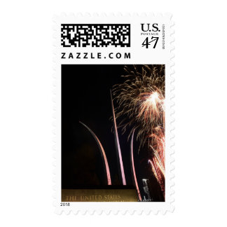 Fireworks light up the Air Force Memorial Postage