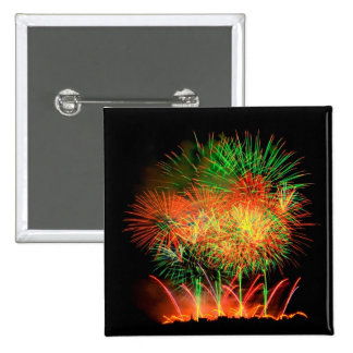 Fireworks Lighting up the Sky 2 Inch Square Button
