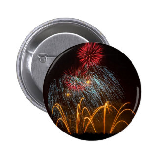 Fireworks Lighting up the Sky 2 Inch Round Button