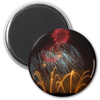 Fireworks Lighting up the Sky Magnet