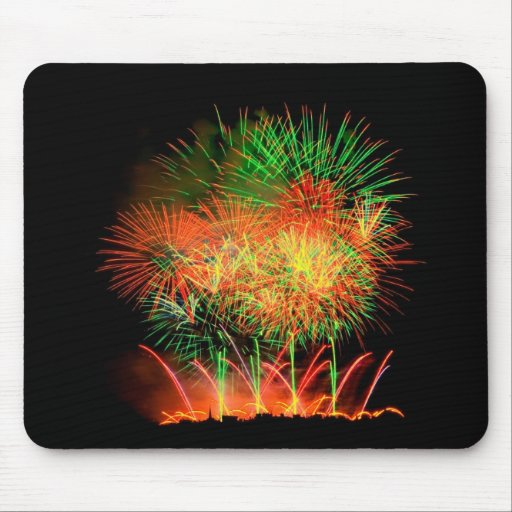 Fireworks Lighting up the Sky Mouse Pad