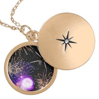 Fireworks Locket Necklace