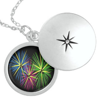 FIREWORKS LOCKET NECKLACE