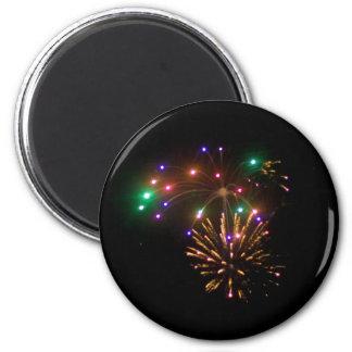 fireworks refrigerator magnet