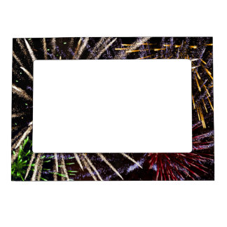 Fireworks Magnetic Photo Frame