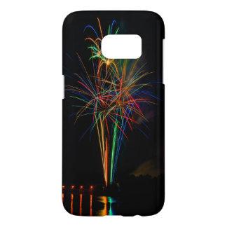 Fireworks multicoloured samsung galaxy s7 case