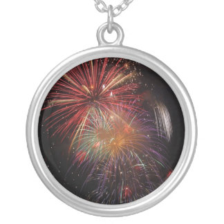 Fireworks Round Pendant Necklace
