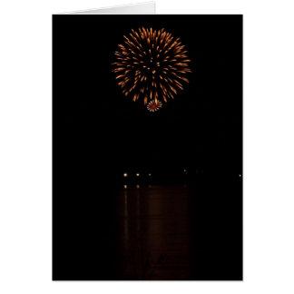 Fireworks notecard invitation