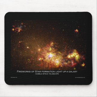 Fireworks of Star Formation Light Up a Galaxy Mousepad