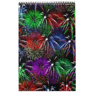 Fireworks on Black Background Calendars