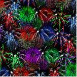Fireworks on Black  Background Photo Cutouts