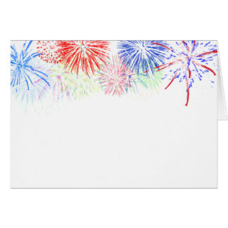 Fireworks on Blank (Add background color) Card