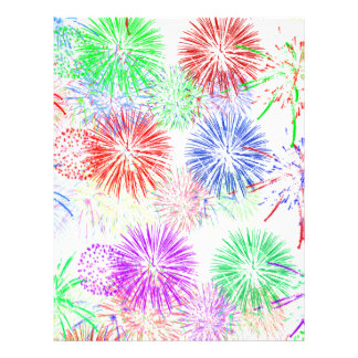 Fireworks on Blank Add background color Personalized Letterhead