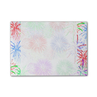 Fireworks on Blank (Add background color) Post-it Notes