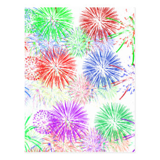 Fireworks on Blank (Add background color) Postcard