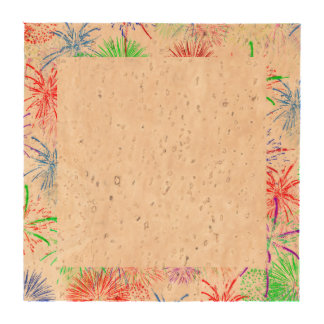 Fireworks on Blank (Add background color) Beverage Coasters