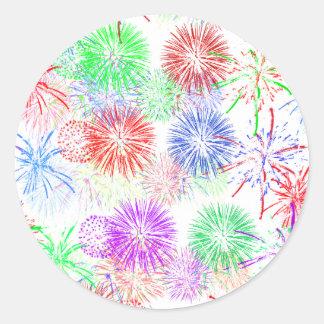 Fireworks on Blank (Add background color) Sticker