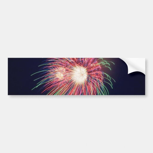 Fireworks on the Fourth! Bumper Sticker