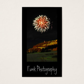 Fireworks on the Yukon River Business Card