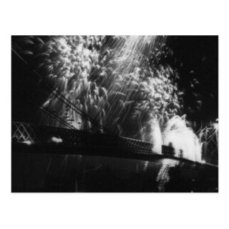 Fireworks Opening of Williamsburg Bridge 1904 Vin Post Cards