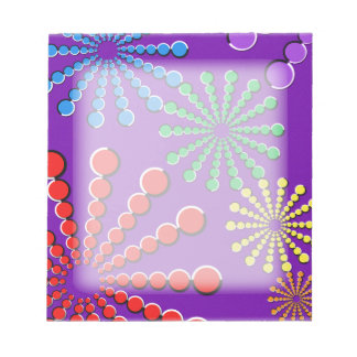 Fireworks Optical Illusion Rainbow Design Note Pads