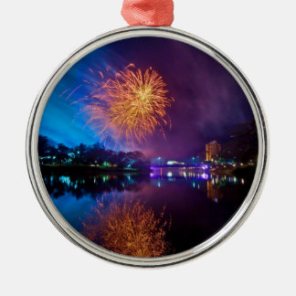 Fireworks Silver-Colored Round Decoration