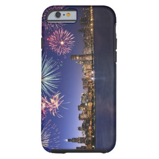 Fireworks over Chicago skyline 2 Tough iPhone 6 Case