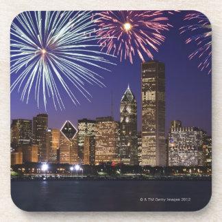Fireworks over Chicago skyline Coasters