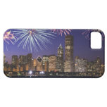 Fireworks over Chicago skyline iPhone 5 Case