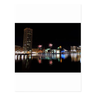 Fireworks over Downtown Baltimore Postcards
