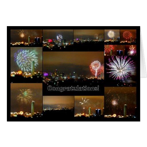 Fireworks over Downtown Kansas CIty, Missouri Card