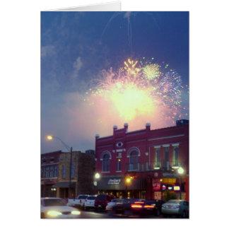 Fireworks Over Fort Smith, Arkansas Card