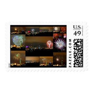 Fireworks over Kansas City, Missouri, Downtown Postage