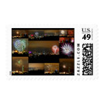 Fireworks over Kansas City, Missouri, Downtown Postage Stamp