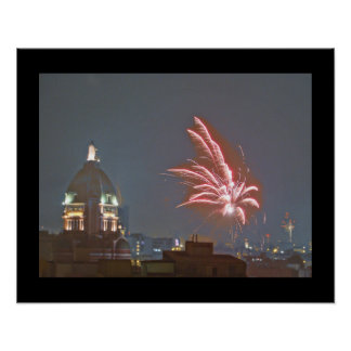 Fireworks over Lima, Peru on Christmas Eve 2A Poster