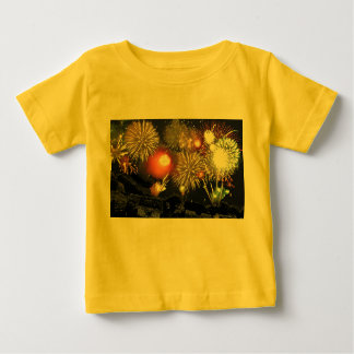 Fireworks over Parked Cars Baby T-Shirt