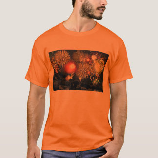 Fireworks over Parked Cars T-Shirt