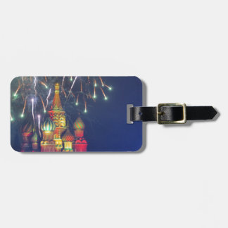 Fireworks over Red Square Tag For Bags