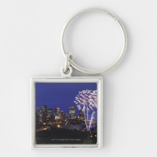 Fireworks Over The City Keychain