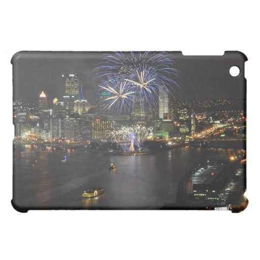Fireworks over the Three Rivers iPad Case