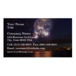Fireworks over water business card