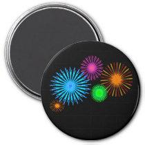 Fireworks Pattern Magnet
