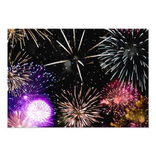 Fireworks Personalized Announcements