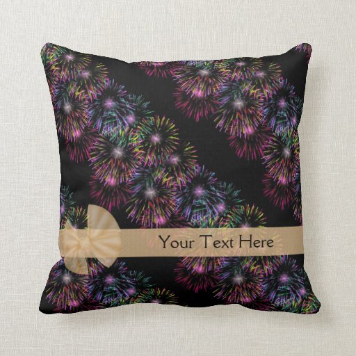 Fireworks Personalized Pillow