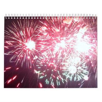 Fireworks photo calender calendar