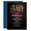 Fireworks Photo Outdoor Barbecue 4th of July Party Invitation