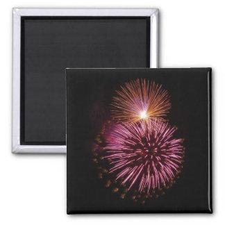 Fireworks Pink magnet