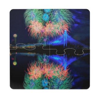 Fireworks Puzzle Coaster