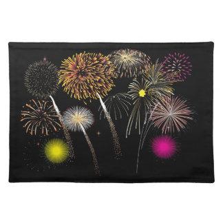 Fireworks Placemat Cloth Place Mat