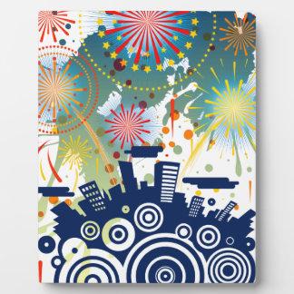 Fireworks Plaque